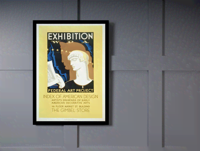 Quadro Poster Propaganda Federal Art Project American Design na internet