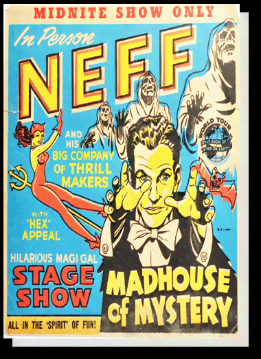 Quadro Poster Propaganda Neef Madhouse of Mystery