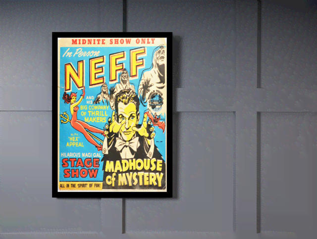 Quadro Poster Propaganda Neef Madhouse of Mystery na internet