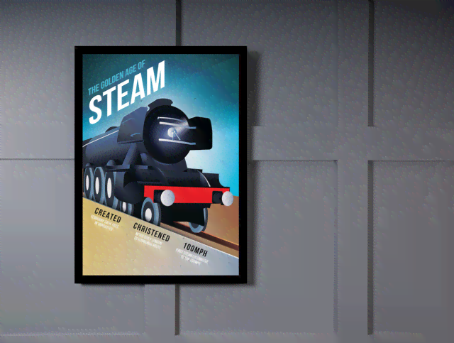 Quadro Poster Propaganda The Golden Age of Steam na internet