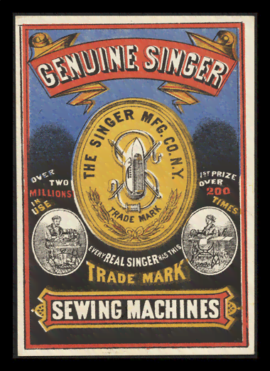 Quadro Poster Propaganda Sewing Machines Singer