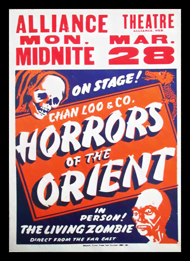 Quadro Poster Propaganda Horrors of the Orient