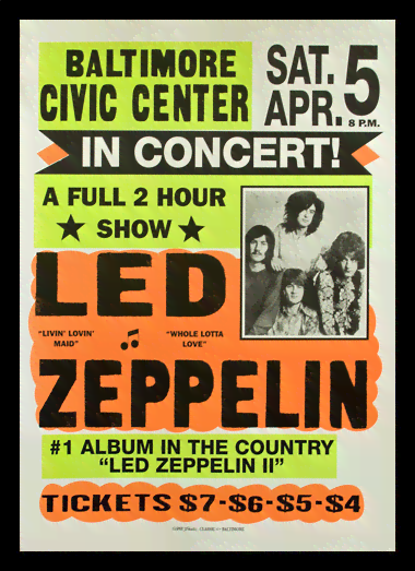 Quadro Poster Propaganda Led Zeppelin in Concert