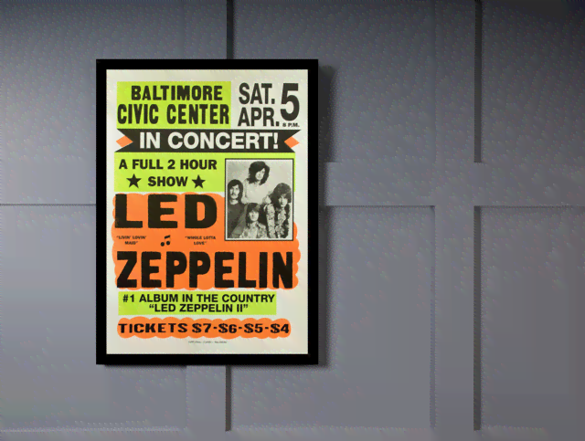 Quadro Poster Propaganda Led Zeppelin in Concert na internet