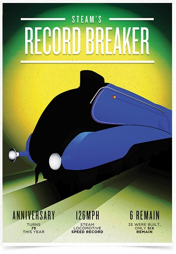Poster Propaganda Steams Record Breaker