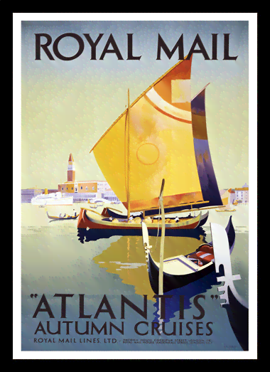 Quadro Poster Propaganda Royal Mail Atlantis
