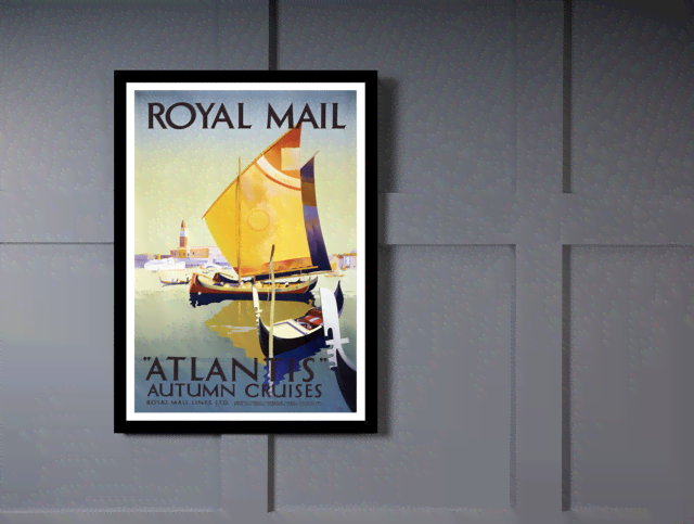 Quadro Poster Propaganda Royal Mail Atlantis na internet