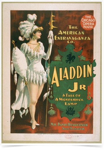 Poster Propaganda The Chicago Opera House Aladdin Jr