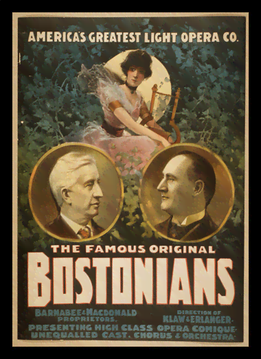 Quadro Poster Propaganda The Famous Original Bostonians 1