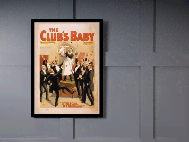 Quadro Poster Propaganda The Clubs Baby 2 na internet