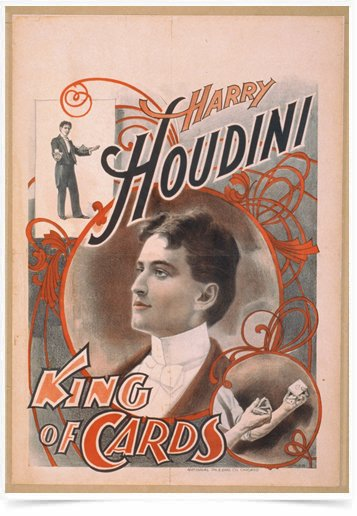 Poster Propaganda Harry Houdini King of Cards