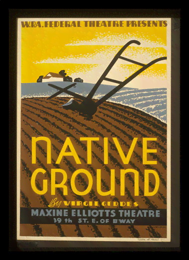 Quadro Poster Propaganda Bebidas Native Ground