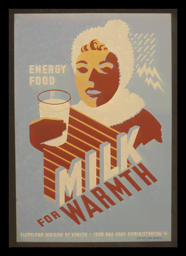 Quadro Poster Propaganda Bebidas Milk for Warmth