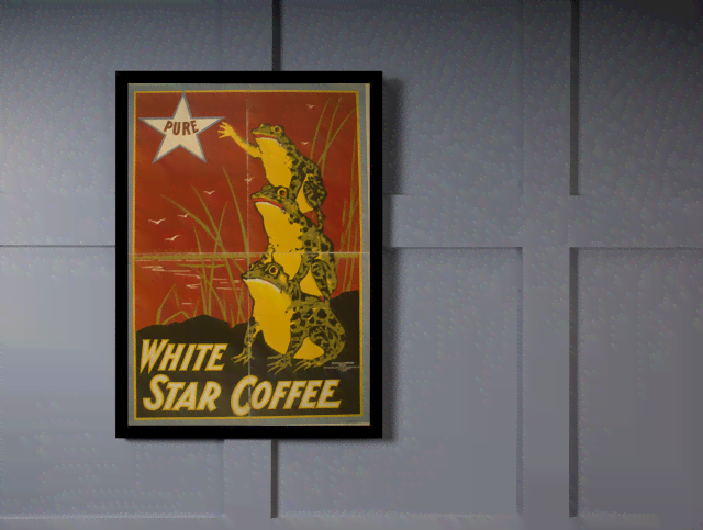 Quadro Poster Propaganda Bebidas White Star Coffee na internet