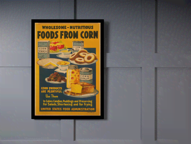Quadro Poster Propaganda Bebidas Foods From Corn na internet