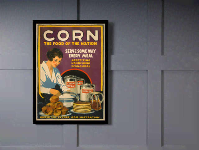 Quadro Poster Propaganda Bebidas Corn The Food of Nation na internet