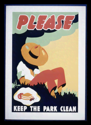 Quadro Poster Propaganda Bebidas Please The Park Clean