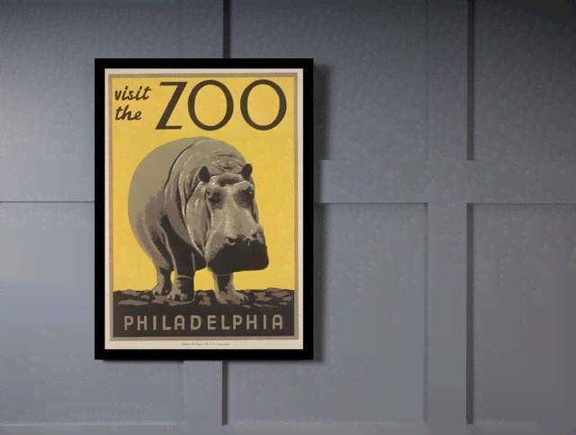 Quadro Poster Natureza Visit the Zoo Philadelphia na internet