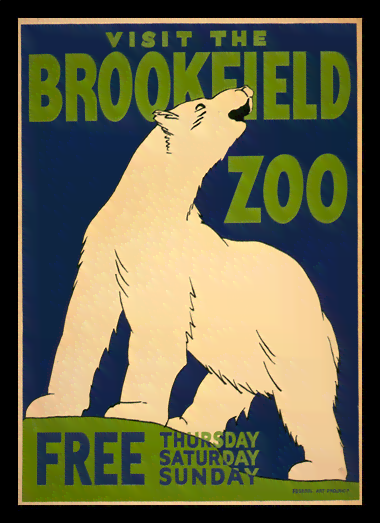 Quadro Poster Natureza Visit The Brookfield Zoo Free