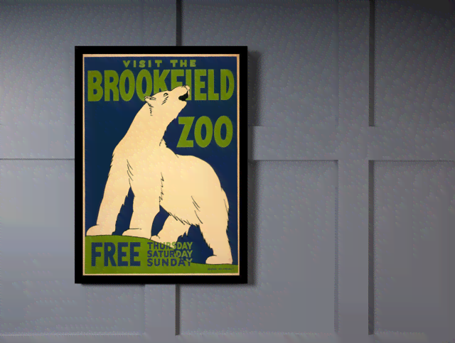 Quadro Poster Natureza Visit The Brookfield Zoo Free na internet