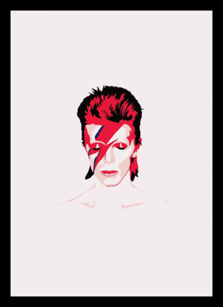 Quadro Poster Art Digital David Bowie 3