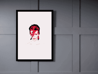 Quadro Poster Art Digital David Bowie 3 na internet