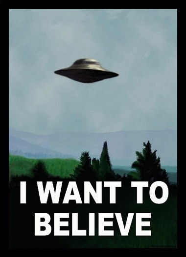 Quadro Poster Art Digital I Want To Believe Arquivo X - comprar online