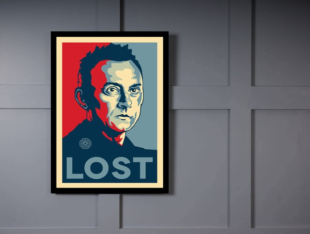 Quadro Poster Art Digital Lost na internet