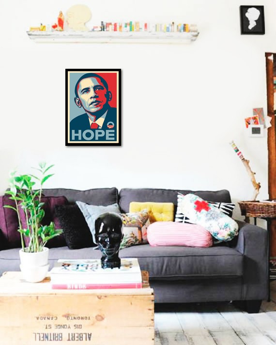 Quadro Poster Art Digital Obama Hope - comprar online