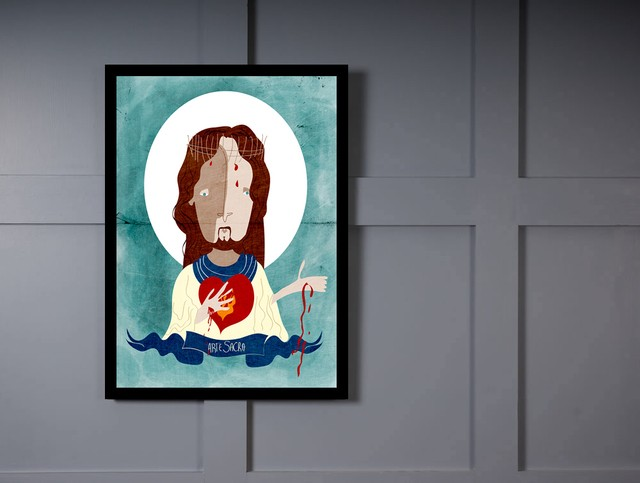 Quadro Poster Art Digital Jesus Arte Sacra - Decor10