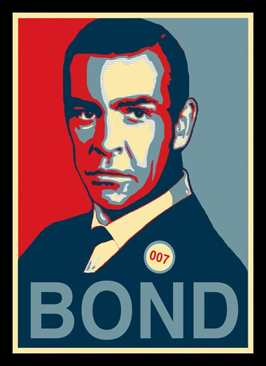Quadro Poster Art Digital James Bond na internet