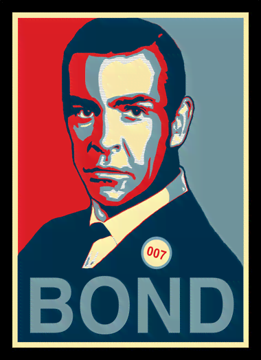 Quadro Poster Art Digital James Bond