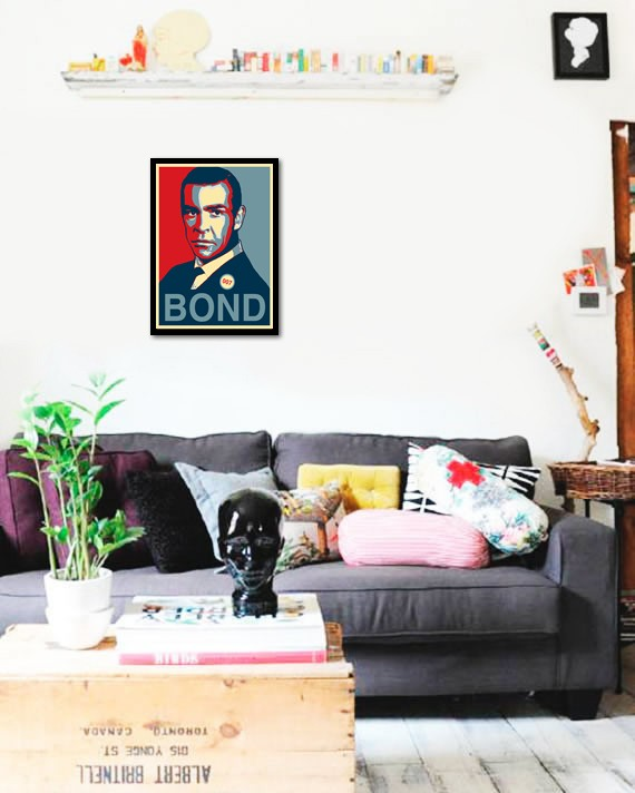 Quadro Poster Art Digital James Bond - Decor10