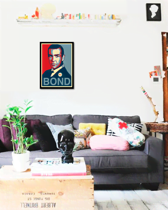 Quadro Poster Art Digital James Bond - comprar online