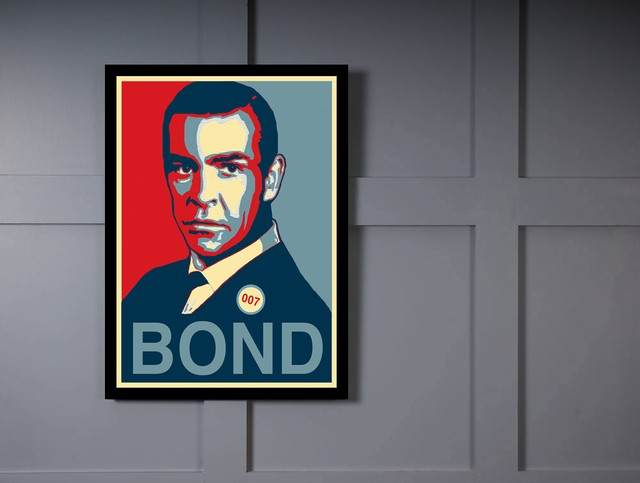 Quadro Poster Art Digital James Bond - loja online