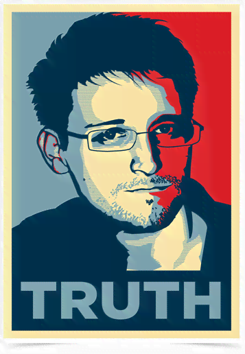 Poster Art Digital Edward Snowden