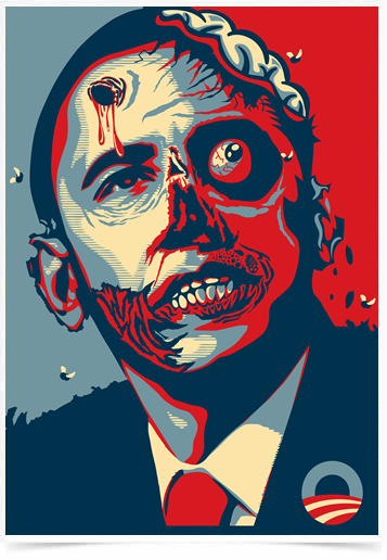 Poster Art Digital Obama Zumbi