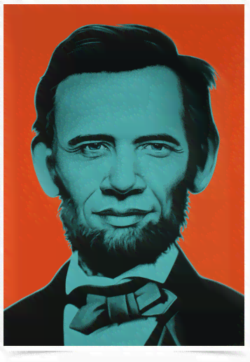 Poster Art Digital Abraham Lincoln