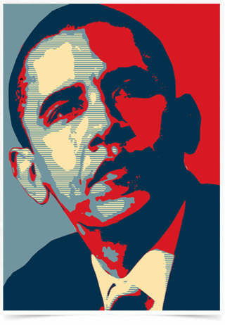 Poster Art Digital Obama