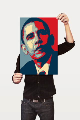 Poster Art Digital Obama - comprar online