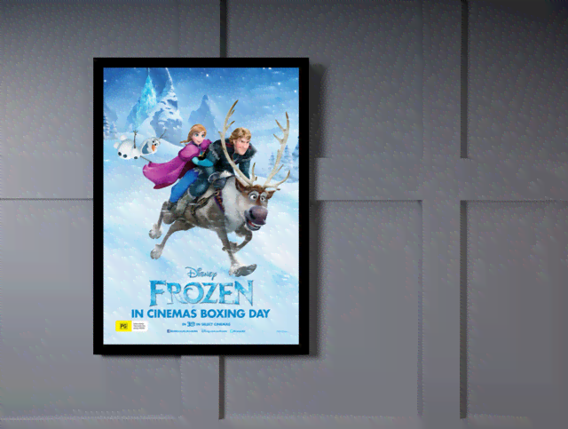 Quadro Poster Cinema Frozen 4 na internet