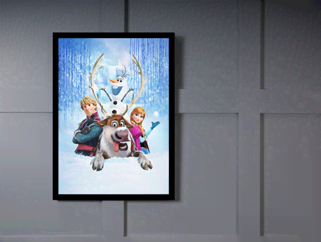 Quadro Poster Cinema Frozen 8 na internet