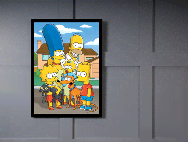 Quadro Poster Cinema Simpsons 5 na internet
