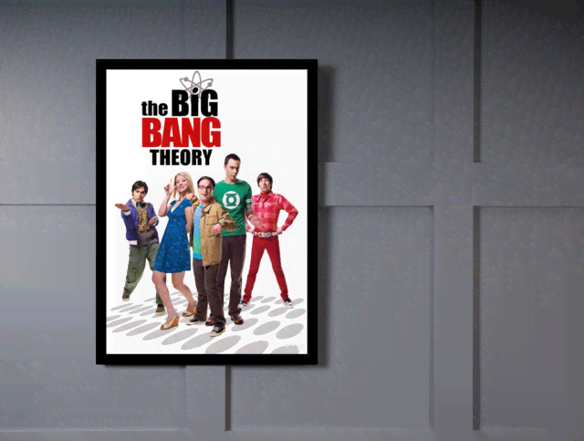 Quadro Poster Cinema The Big Bang Theory 3 - comprar online