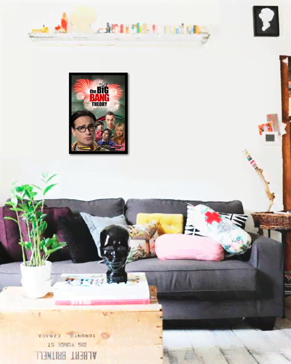 Quadro Poster Cinema The Big Bang Theory 7 - comprar online