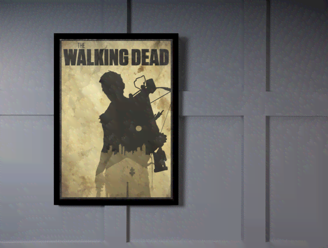 Quadro Poster Cinema The Walking Dead 8 na internet