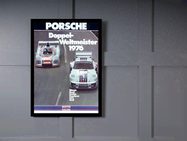 Quadro Poster Carros Porsche Doppel Weltmeister 1976 na internet