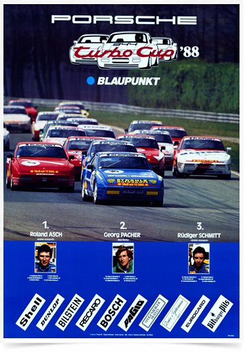 Poster Carros Porsche Turbo Cup 88 na internet
