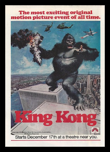 Quadro Poster Cinema King Kong 1976
