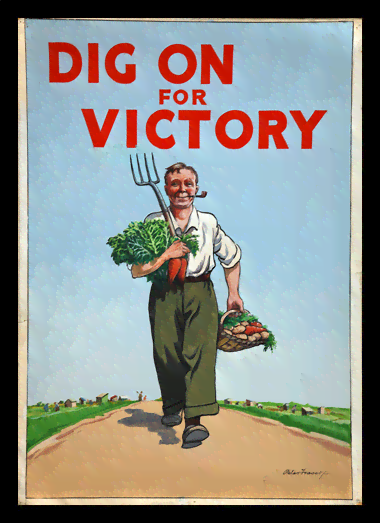 Quadro Poster Cozinha Dig On for Victory